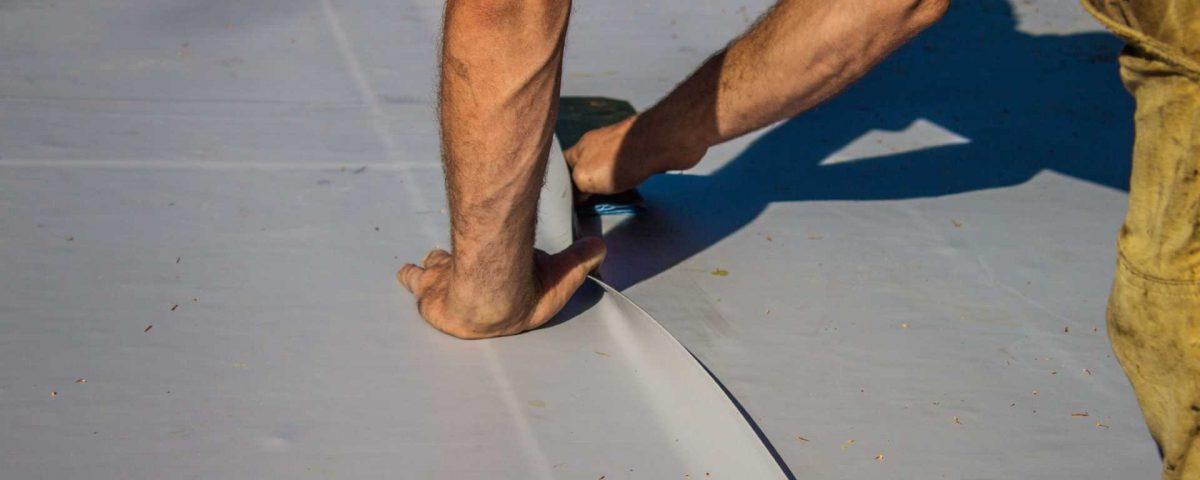 Roofer Installing Roof