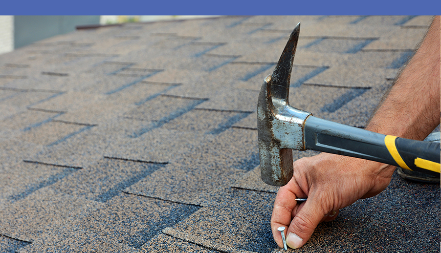 Roofing with Hammer and Nail